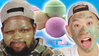 Men Try Lush Beauty Products