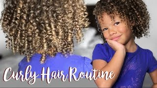 Curly Hair Routine | Kid Friendly!