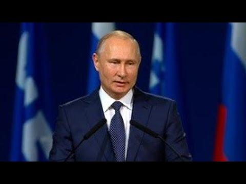 Выступление Владимира Путина на Конгрессе ФИФА - Россия 24