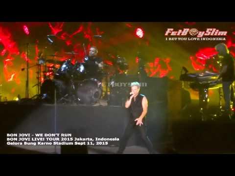BON JOVI - WE DON'T RUN ( New Single ) live in Jakarta, Indonesia 2015