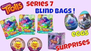 Series 7 Trolls Blind Bags Surprise Toys Chupa Chups Tins Collection Eggs Opening