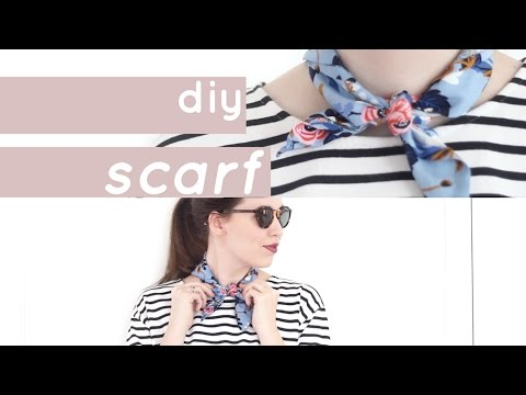 DIY Neck Scarf: How to Make a Vintage Inspired Scarf | Chic Éthique - YouTube