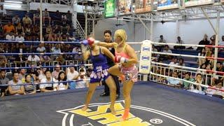Katya Phuket Top Team (Russia) vs Botan (Thailand) Female Muay Thai fight 16 Dec 2015