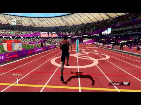 London 2012 Video Game: 400m World Record!