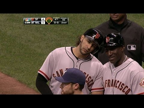 SF@MIL: Morse's RBI singles extends the Giants' lead