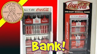 Coca Cola Musical Vending Machine Bank - It