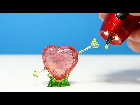 СТЕКЛЯННОЕ СЕРДЦЕ СВОИМИ РУКАМИ! РИСУЮ 3D РУЧКОЙ | 3D PEN DIY