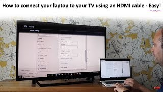 How to connect your laptop to your TV using an HDMI cable - Easy
