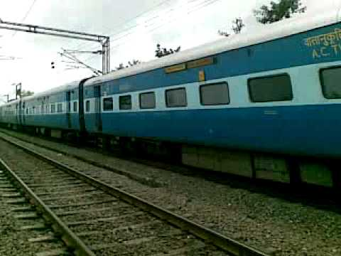 Speed calculated using GPS . Avadh Express at Saphale