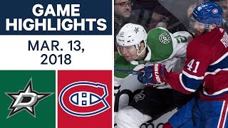 NHL Game Highlights | Stars vs. Canadiens - Mar. 13, 2018
