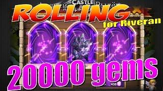 Castle Clash/Битва Замков, Rolling 20000 gems, for Riveran
