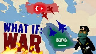 Turkey vs Saudi Arabia. A military \