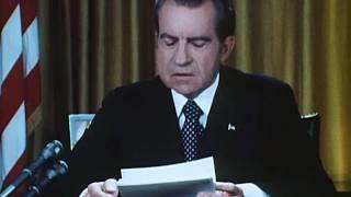 President Nixon's First Watergate Speech (April 30, 1973)