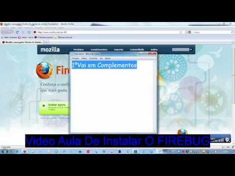 Video Aula De Como Instalar o Firebug