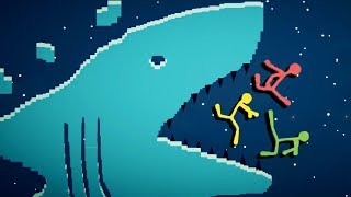 SHARK ATTACK! - Best Stickfight Maps! - Stick Fight Custom Maps Multiplayer