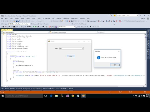 C# Tutorial - How to Create and use User Control   FoxLearn