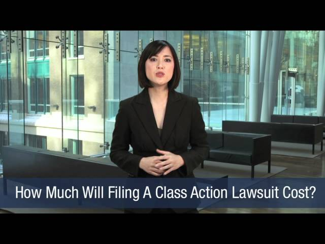How Much Will Filing A Class Action Lawsuit Cost?