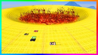 GTA 5 DLC ULTRA HARD UNRELEASED CUSTOM STUNT RACES - INSANE FIRE PIT SPEED TRAP, DEATH DROPS & MORE!