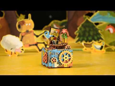 DIY Wooden Music Box - Machinarium