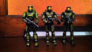 Halo Anniversary Series 1 - 3 Pack Master Chief Evolutiuon Action Figure Review