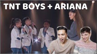 TNT BOYS MEETS ARIANA GRANDE!!! | REACTION
