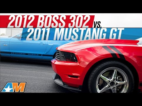 2011 Mustang  on 2012 Boss 302 Vs  2011 Mustang Gt Drag Race   Americanmuscle Com