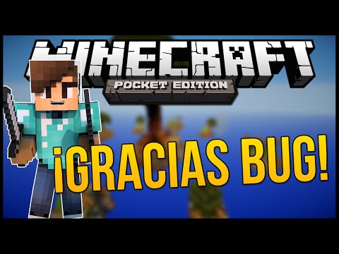 Minecraft PE: SKYWARS SALVADO POR UN BUG