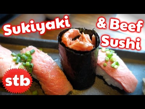 Japanese Food Tour: Beef Sukiyaki & Sushi w/ DaveTrippin