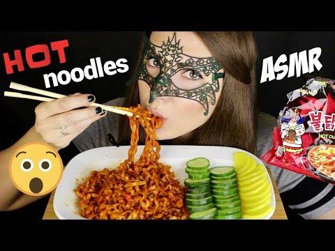 АСМР СУПЕР-ОСТРАЯ Корейская ЛАПША/ASMR MUKBANG HOT CHALLENGE Korean noodles SAMYANG *EATING SOUNDS*
