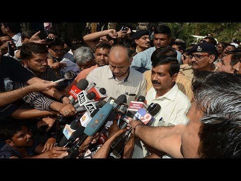 Arvind Kejriwal Talks With The Media In Gujarat