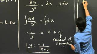 MIT 18.03SC Differential Equations, Fall 2011
