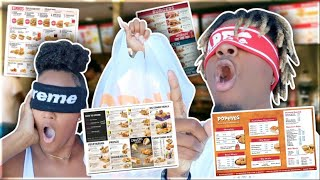 ORDERING OUR FOOD BLINDFOLED FOR 24 HOURS!!!😱 **IMPOSSIBLE **