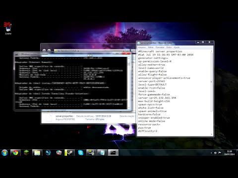 Como criar servidor de minecraft 1.7.10 / 1.8  Com ou Sem Hamachi