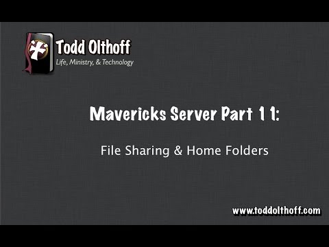 Mavericks Server Part 11: File Sharing & Home Folders