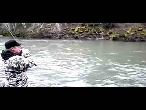 Bobber & Jig  Fishing for Steelhead (Skookumchuck River) Jan-26-2013