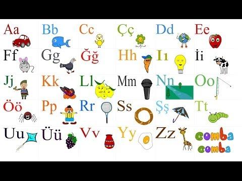 Çocuklar için Türkçe Alfabe - Turkish Alphabet...