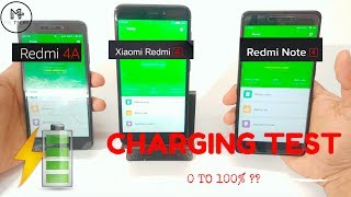 Xiaomi Redmi 4 - Battery Charging Test Ft. Redmi 4A & Redmi Note 4