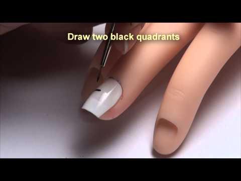 Nail art designs, silver coloured dots ( Diseño de uñas, puntitos