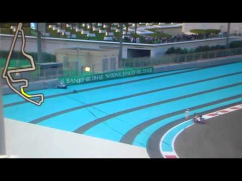 F1 2012 Abu Dhabi GP Rosberg & Karthikeyan crash