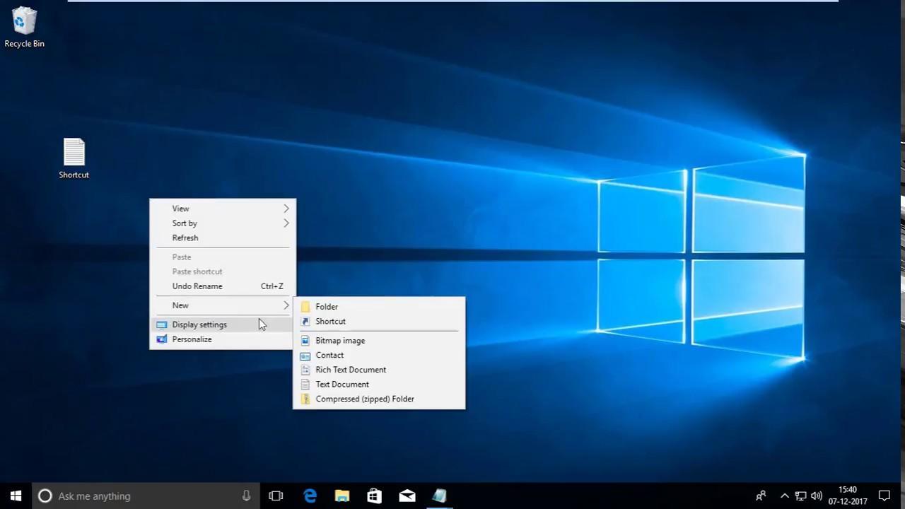 Shortcuts windows 10