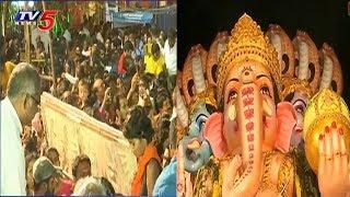 నిమజ్జనానికి సిద్దమైన ఖైరతాబాద్ గణేశుడు..! | All Set For Khairatabad Ganesh Immersion