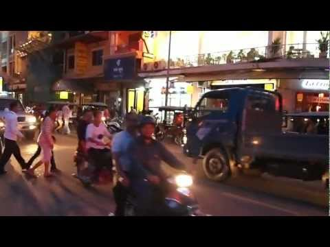 Phnom Penh - Aerobics To Sex Bomb And Evening Traffic video