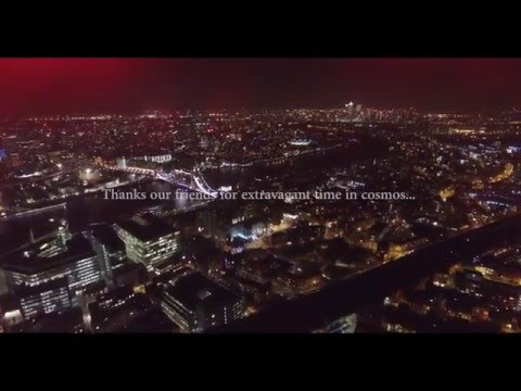 London at Night, Shard from the drone, Canary Wharf 4K