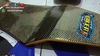 Jok Ninja RR New Sarung Karbon Kevlar Glossy Thailand