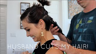 HUSBAND CUTS MY HAIR | UNDERCUT PIXIE