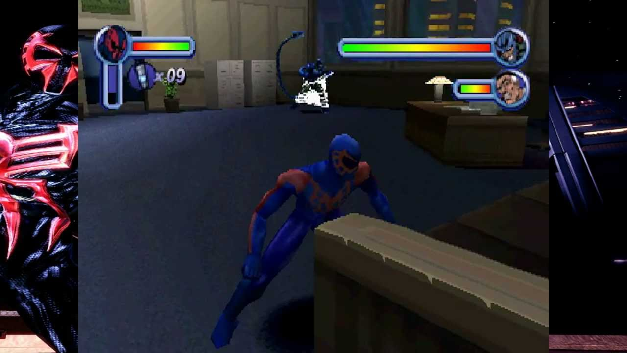 Lets Play PSX Again Spiderman Spiderman 2099 VS