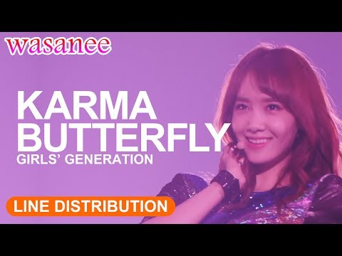 Girls' Generation/Snsd - Karma Butterfly (OT8) - Line Distribution (Color Coded Live)