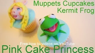 The Muppets Most Wanted Cupcakes! How to Make Kermit The Muppet Cupcakes by Pink Cake Princess