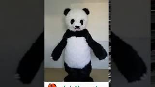 Adult Size Panda mascot costume-custom mascot costumes