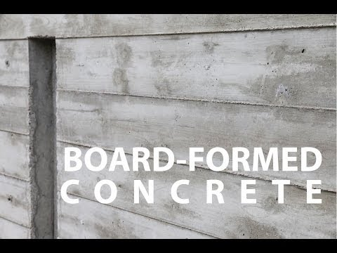 Board formed architectural concrete walls how to ibowbow for Precast basement walls vs poured